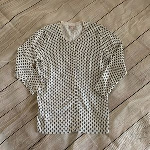 Black and white button down sweater